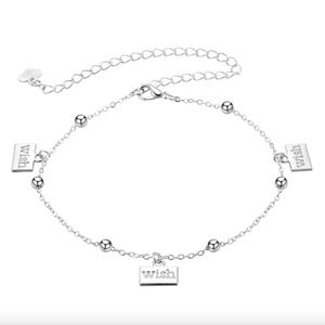 Make A Wish Charm Stainless Steel Bracelet